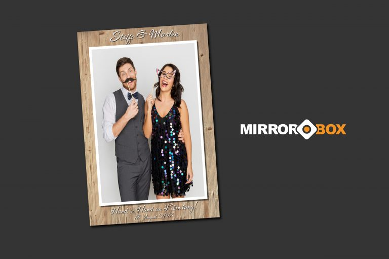 Mirrorbox Fotospiegel Hochzeit Arbing Heuboden
